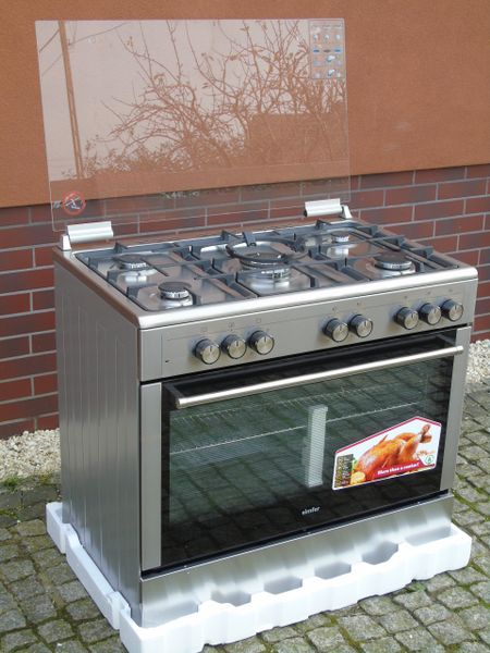 Kuchnia Gazowo Elektryczna 5 Palników 90cm