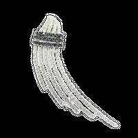 GALE;  Srebrna broszka z cyrkoniami