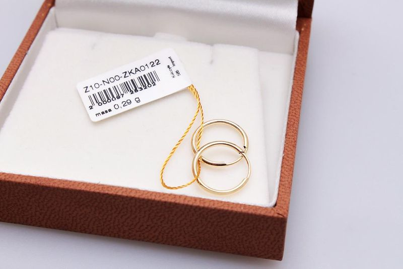 kolczyki złote KÓŁKA 1.2cm zdjęcie 2