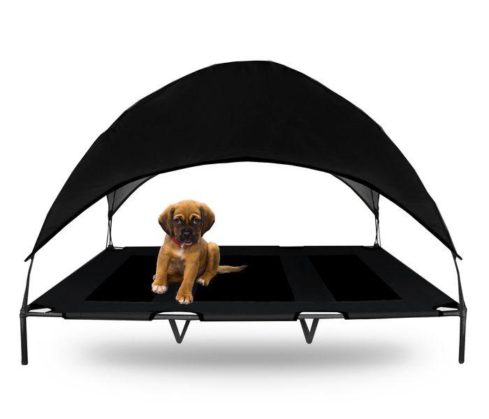 Legowisko dla psa na nóżkach z daszkiem łóżko XL CZARNE 17220-2 na Arena.pl