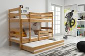 Łóżko piętrowe trzyosobowe Eryk 190x80 dla dzieci dziecięce + STELAŻ zdjęcie 5