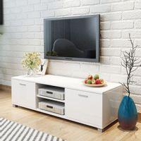Szafka pod TV na wysoki połysk biała 140x40,3x34,7 cm