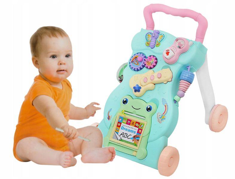 Chodzik Interaktywny Jeździk Pchacz Edukacyjny 4w1 Dla Dzieci Y106 zdjęcie 6