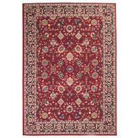 Orientalny dywan, 140 x 200 cm, czerwono-beżowy