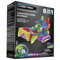 Laser Pegs Świecące Klocki 8W1 Construction Runner Rn2170