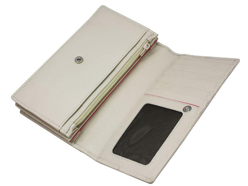 Damski, skórzany portfel w kolorze kremowym Valentini zdjęcie 6