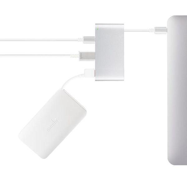 Moshi USB-C Multiport Adapter - Aluminiowy hub 3-w-1 USB-C/Thunderbolt 3 (Silver) zdjęcie 4
