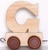 Wagonik z literką G - LITERKA element z układanki ALFABET POCIĄG
