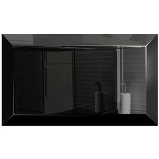 Płytka lustrzana czarna 10x30 cm