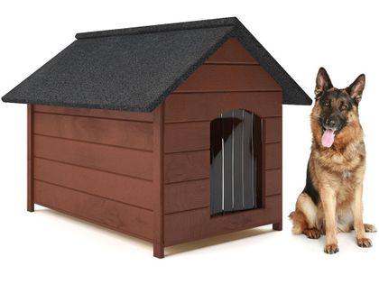 Różne kolory drewniana ocieplana buda dla psa XL solidna 60KG +kurtyna