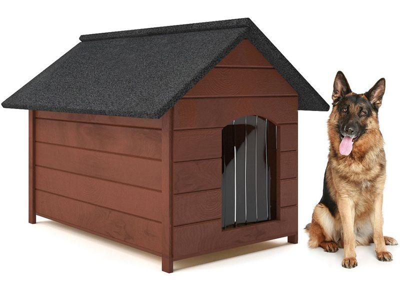 Różne kolory drewniana ocieplana buda dla psa XL solidna 60KG +kurtyna zdjęcie 1