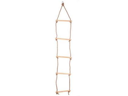 Drabinka z drewnianymi drążkami 5 stopni