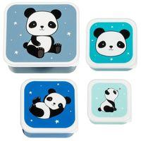 A Little Lovely Company - Lunchbox Panda zestaw 4 szt.