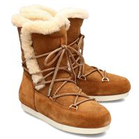 Moon Boot Far Side High Shear - Śniegowce Damskie - 24200700 002 - Brązowy 36