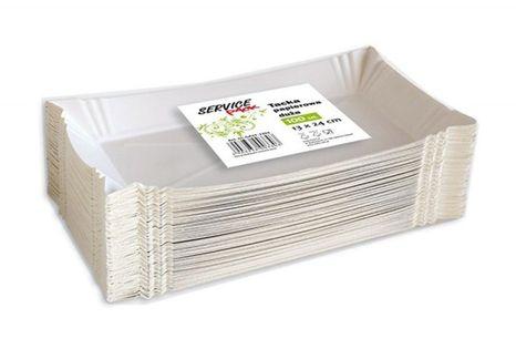 Tacki Papierowe Stella, Duże, 100 Szt., Białe