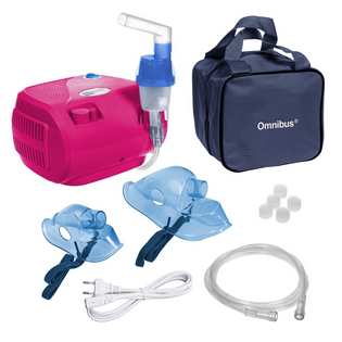 Inhalator nebulizator dla dzieci i dorosłych OMNIBUS BR-CN116 Różowy