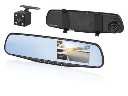 Rejestrator video w lusterku BLACKBOX DVR F600 BLOW + kamera cofania