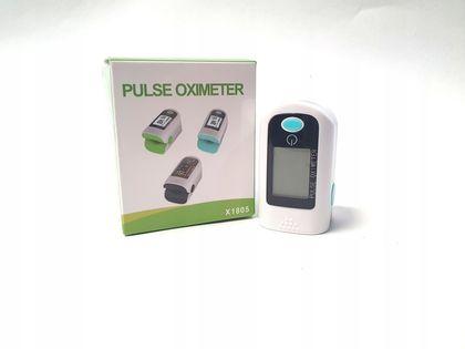 Pulsoksymetr napalcowy OLED miętowy