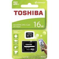 Karta pamięci microSDHC 16GB Toshiba 10C 100MB/s UHS-I U1 (M203)