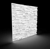 BIAŁE Dekoracyjne Panele Ścienne 60x60 - KAMIEŃ