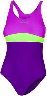 Kostium pływacki EMILY roz. 152-164 Rozmiar - Stroje dziecięce - 158, Kolor - Stroje damskie - Emily - 48 -  fiolet / ciemny fiolet / zielony