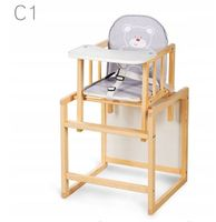 KLUPŚ Krzesełko dla dzieci AGA C1  SOSNA do karmienia i zabawy