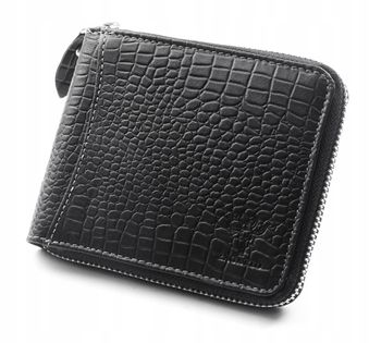 Skórzany portfel męski Zagatto poziomy na suwak