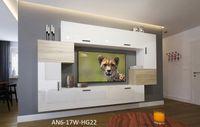 Meblościanka ORLEAN N6 połysk mat szafki wiszące Salon RTV LED
