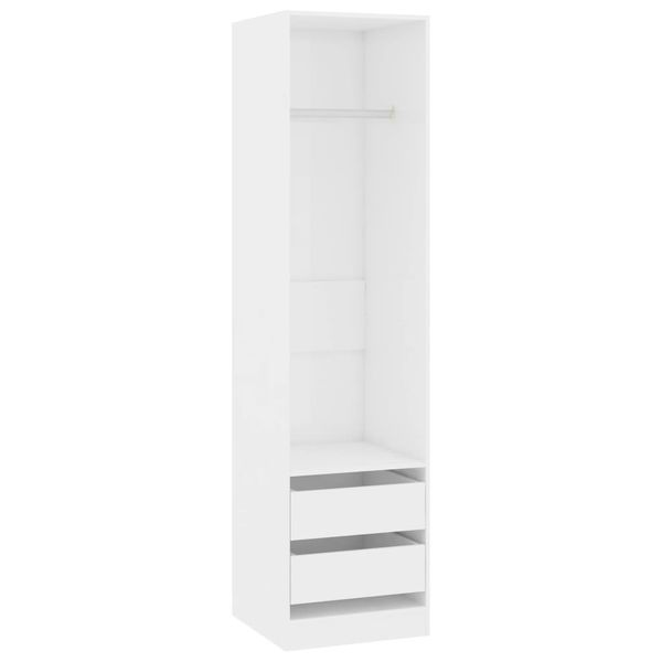 Szafa z szufladami wysoki połysk biała 50x50x200cm VidaXL na Arena.pl