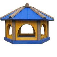 Karmnik dla ptaków Drew-Handel K50N/D 50cm Niebieski karmnik wykonany z drewna iglastego odpornego na warunki atmosferyczne