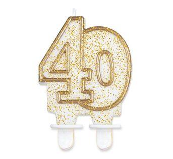 Świeczka Cyferka 40 na czterdzieste Urodziny