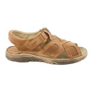 Komfortowe Sandały Skórzane r.44