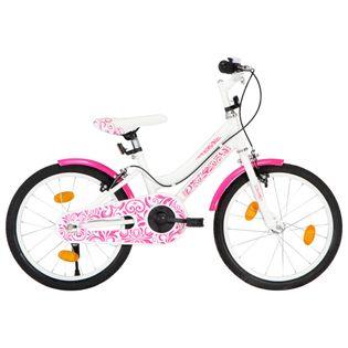 Rower dla dzieci, 18 cali, różowo-biały