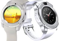 SMARTWATCH ZEGAREK OKRĄGŁY V8 NEW MODEL APARAT SIM ANDROID KARTA SD