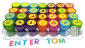 PIECZĄTKI dla dzieci stempelki LITERKI alfabet zdjęcie 3