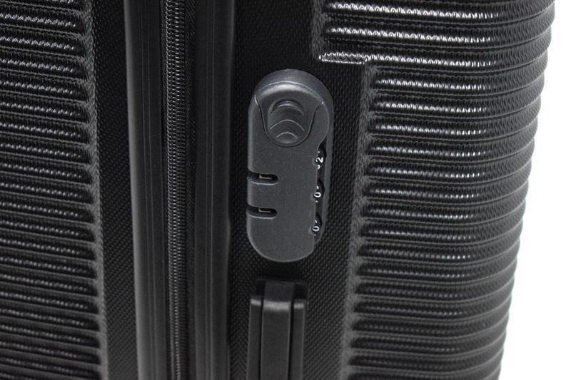 WALIZKA walizki kółka torba samolot ZESTAW M + L CZARNE 1073+1074 zdjęcie 4