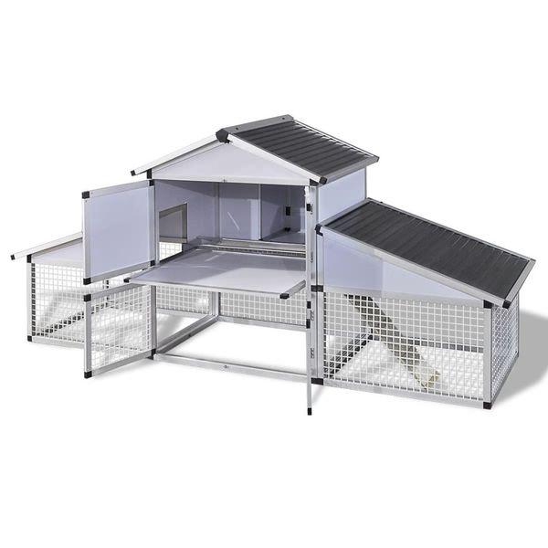 Aluminiowy kurnik z gniazdem i wybiegiem zdjęcie 4