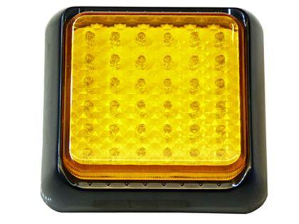 mocna Lampa 36 LED pomarańczowa uniwersalna kierunki ostrzegawcza itp
