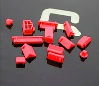 Zaślepki gniazd komputerowych USB HDMI VGA  - Czerwone