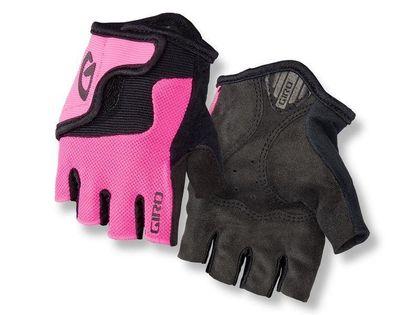 Rękawiczki juniorskie GIRO BRAVO JR krótki palec bright pink roz. S (obwód dłoni 142-152 mm / dł. dłoni 155-160 mm) (NEW)