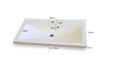 Prostokątna Umywalka LAMARA biała 80 łazienka zlew