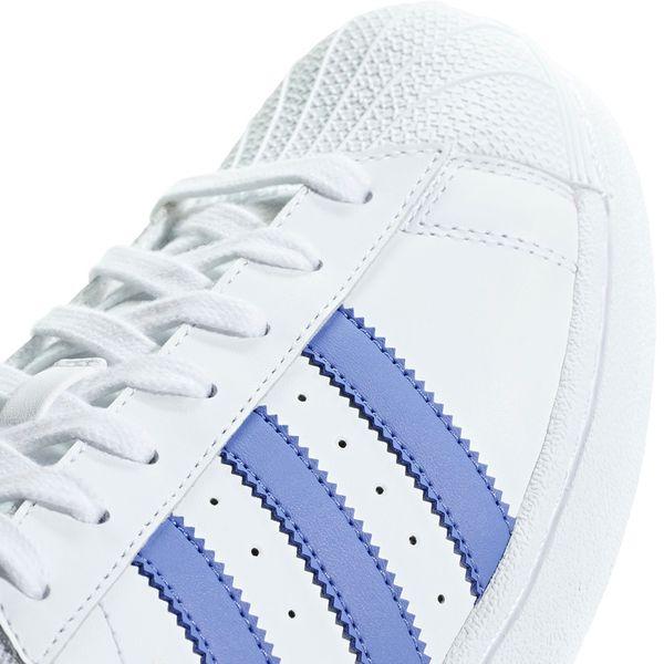 Buty męskie adidas Superstar biało niebieskie G27810