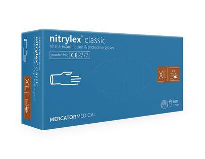 Rękawice nitrylowe nitrylex classic blue XL 100 szt