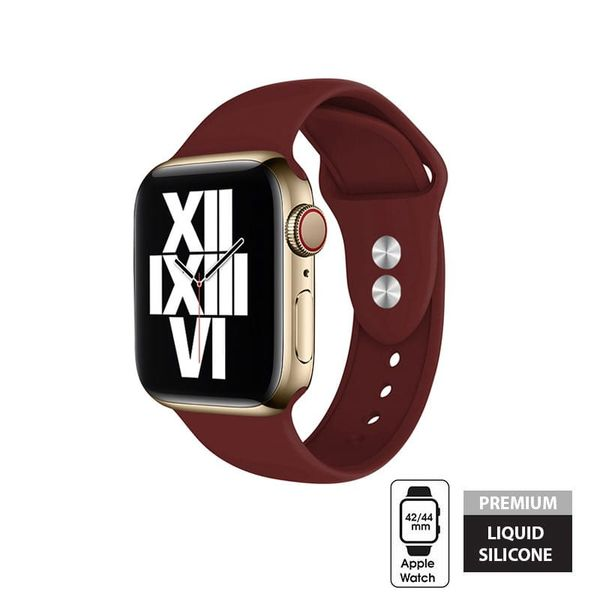 Crong Liquid - Pasek do Apple Watch 42/44 mm (bordowy) na Arena.pl