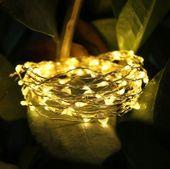 Lampki Drucik Mini Led Na Baterie 100 Białe Ciepły