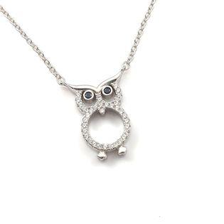 Modny naszyjnik srebrny sowa