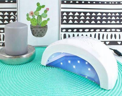 Mocna Lampa UV Dual LED Żele Hybrydy 48W SUNshine