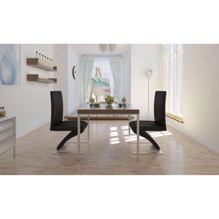 Krzesła do jadalni o zygzakowatej formie, 2 szt., czarne