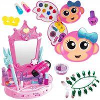 Toaletka z Lustrem dla dzieci + Zestaw do Makijażu i Paznokci X182Z