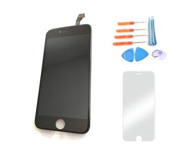 Wyświetlacz iPhone 6 CZARNY  + szkło i narzędzia 